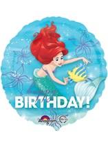 """Ariel Dream Big Happy Birthday 18"""" Foil Balloon"""