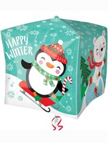 "Christmas Penguin & Bear Cubez 15"" Foil Balloon"