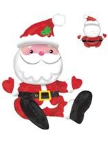 "Christmas Sitting Santa 21"" Multi Foil Balloon"