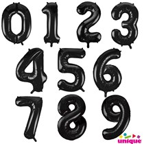 Black Giant 34 Inch Foil Number Balloons