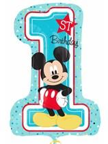 """Mickey 1st Birthday  28"""" Supershape Foil Balloon"""