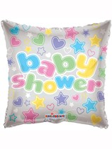 "18"" Square Pastel Baby Shower Foil Balloon"