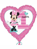 "Minnie Mouse 1st Birthday 18"" Star Foil Balloon"