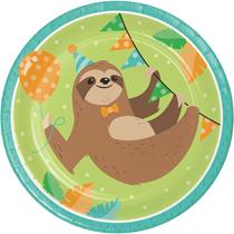 Sloth Party 23cm Paper Plates 8pk
