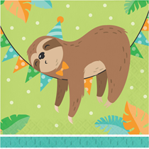 Sloth Party 2-ply Lunch Napkins 16pk