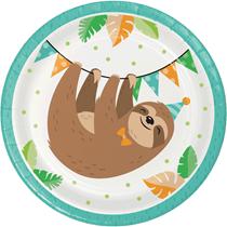 Sloth Party 18cm Paper Plates 8pk