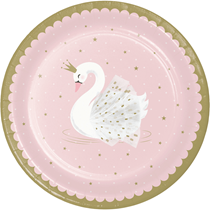 Stylish Swan Party 23cm Paper Plates