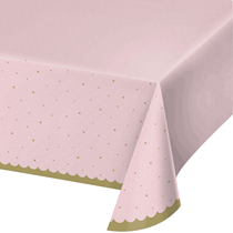 Stylish Swan Party Plastic Tablecover