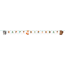 Woodland Animals Ribbon Letter Banner 2.4M