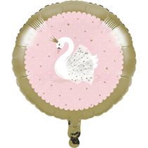"Stylish Swan Party 18"" Foil Balloon"