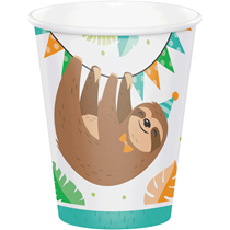 Sloth Party Paper Cups 8pk