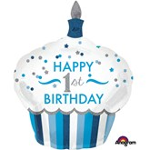 "1st Birthday 36"" Supershape Foil Balloon"