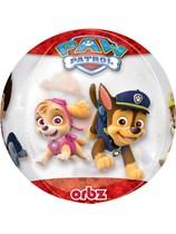 "Paw Patrol Clear Orbz 16"" Foil Balloon"