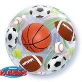 """Happy Birthday"" Sport Balls Bubble Balloon 22"""