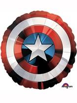 "Captain America Shield 28"" Supershape Foil Balloon"