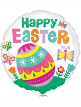 "Happy Easter Big Egg 18"" Foil Balloon"