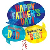 Happy Father's Day Speech Bubble Supershape