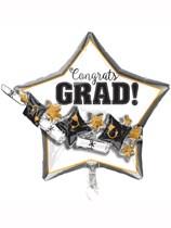"""OUT OF STOCK FOR SEASON - Congrats Grad 27"""" Multi Foil Balloon"""