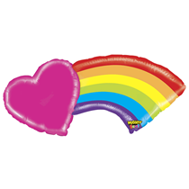 "Mighty Heart Rainbow 43"" Foil Balloon"