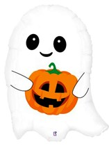 "Halloween Cute Lil Ghost 26"" Supershape Foil Balloon"