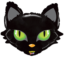 "Black Cat With Green Eyes 28"" Foil Balloon"
