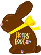 """Chocolate Easter Bunny 39"""" Supershape Foil Balloon"""