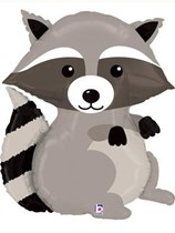 "Woodland Critters Raccoon 36"" Supershape Foil Balloon"