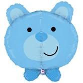 "Blue Teddy Bear 27"" Multi Sided Foil Balloon"