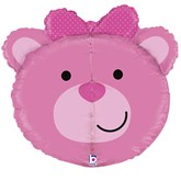 "Pink Teddy Bear 27"" Multi Sided Foil Balloon"