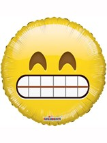 "Big Teeth Smile Emoji 18"" Foil Balloon"