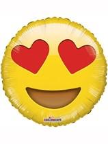 """Smiley In Love Emoji 18"""" Foil Balloon"""