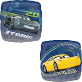 "Disney Cars 3 Cruz & Jackson 18"" Square Foil Balloon"