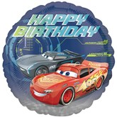 "Disney Cars 3 Happy Birthday 18"" Foil Balloon"