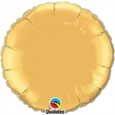 "Metallic Gold 18"" Round Foil Balloon Pkgd"