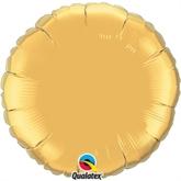 "Metallic Gold 18"" Round Foil Balloon Pkgd"