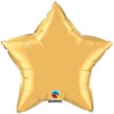 """Metallic Gold 20"""" Star Foil Balloon Pkgd"""