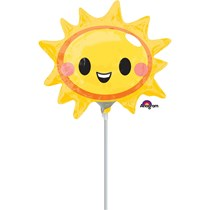 Happy Smiling Sun Mini Shape Foil Balloon (air fill)