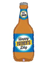 """Happy Father's Day Beer Bottle 34"""" Supershape Balloon"""