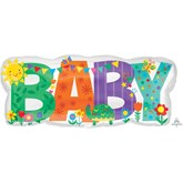 Baby Banner Cute Icons Foil SuperShape Balloon