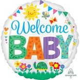 "Welcome Baby Cute Icons 18"" Foil Balloon"