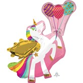 Winged Unicorn Foil SuperShape Balloon