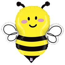 """Smiling Bee 34"""" Foil Balloon"""
