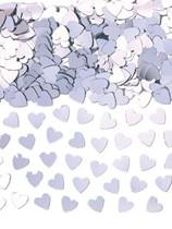 Silver Sparkle Hearts Metallic Confetti 14g