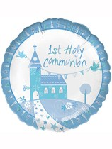 "Blue Communion Church 18"" Foil Balloon"