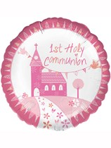 "Pink Communion Church 18"" Foil Balloon"