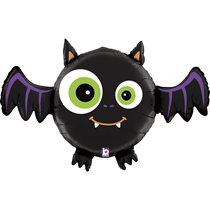 "Halloween Multi Sided Smiling Bat 28"" Foil Balloon"