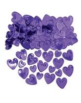 Purple Love Hearts Metallic Confetti 14g