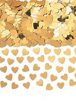 Gold Sparkle Hearts Metallic Foil Confetti 14g