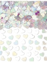 Iridescent Sparkle Hearts Metallic Confetti 14g