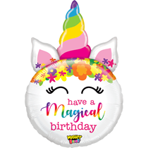 "Mighty Birthday Unicorn 33"" Foil Balloon"